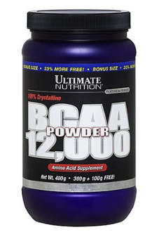 Ultimate Nutrition BCAA 12000 400 гр / 66 порций / Без вкуса